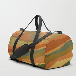 Abstract Retro Landscape 02 Duffle Bag
