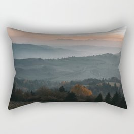 Hazy Mountains - Landscape and Nature Photography Rectangular Pillow