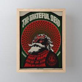 Old rock concert poster Framed Mini Art Print