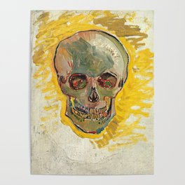 Vincent Van Gogh Skull Poster