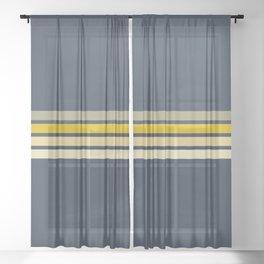 Racing Retro Stripes Sheer Curtain