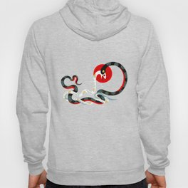 Snake and flowers 3 Hoody
