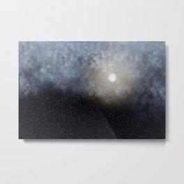 Glowing Moon in the night sky Metal Print