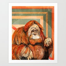 Mr. Orangutan Art Print