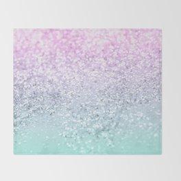 Mermaid Girls Glitter #1 (2019 Pastel Version) #shiny #decor #art #society6 Throw Blanket