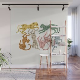 Rainbow Cheetah Wall Mural