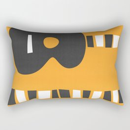 Retro Guitar Rectangular Pillow