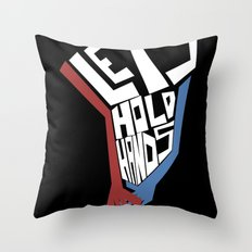 Let's Hold Hands Throw Pillow