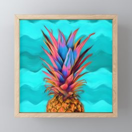 Colorful Pineapple, Ananas fruit Framed Mini Art Print