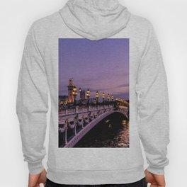 Sunset over Paris Bridge (Color) Hoody