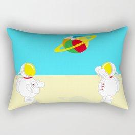 Space Odyssey   Astronaut Beach   Beach Ball   Summer   Sea   Seaside   Ocean   pulp of wood Rectangular Pillow