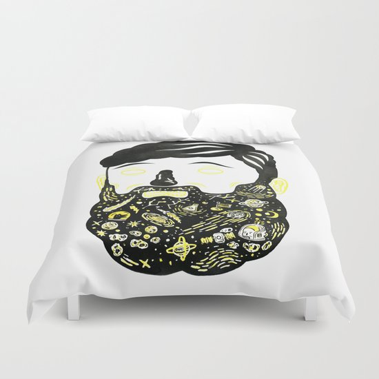 Space Beard Guy Duvet Cover