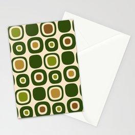 Mid Century Modern Garden Path Pattern 321 Stationery Cards