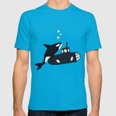 K is for Killer whale Mens Fitted Tee Teal LARGE
