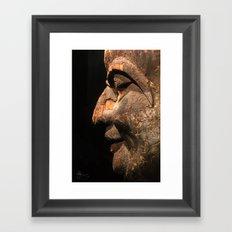 An Ancient Smile  Framed Art Print