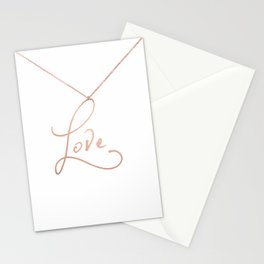Love Pendant Stationery Cards