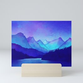 Cerulean Blue Mountains Mini Art Print