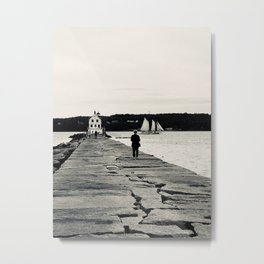 """""""A Walk To Rockland"""" Photography Metal Print"""