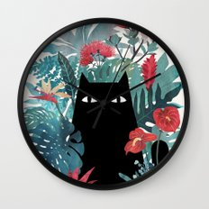 Popoki Wall Clock