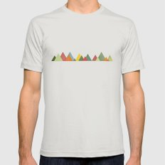 Mountain range Mens Fitted Tee Silver MEDIUM
