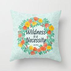 Floral Wildness Throw Pillow