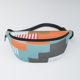 Colorful rectangles with dots Fanny Pack