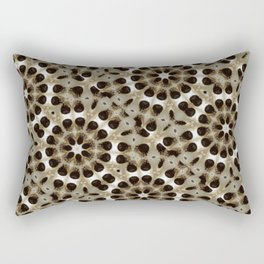 Fabric Pattern Study in Turkish Coffee Culture Rectangular Pillow