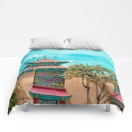 Travel photography Chinatown Los Angeles I Comforters