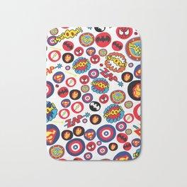 Superhero Stickers Badematte