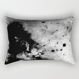 War - Abstract Black And White Rectangular Pillow