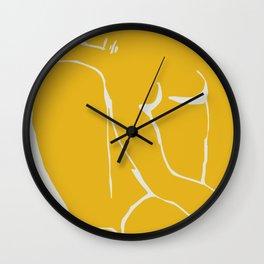 The nude in yellow Wall Clock