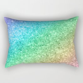 Rainbow Princess Glitter #1 #shiny #decor #art #society6 Rectangular Pillow