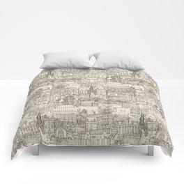 Edinburgh toile natural Comforters
