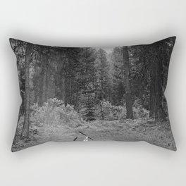 Backpacking Camp Fire B&W Rectangular Pillow