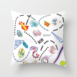 Typography in Design-Toy Pattern Throw Pillow