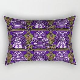 A Parliament of Owls Plum Rectangular Pillow