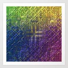 Textured Ombre Art Print
