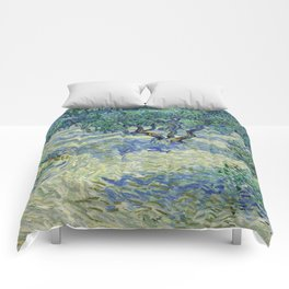 Olive Orchard by Vincent van Gogh Comforters