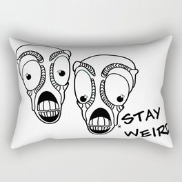 Stay Weird Rectangular Pillow