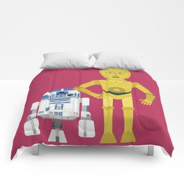 C3P0 and R2D2 vector Comforters