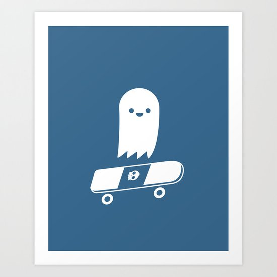 Skate Ghost Art Print