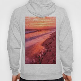 Footprints in the Fiery Sunset Sand Hoody