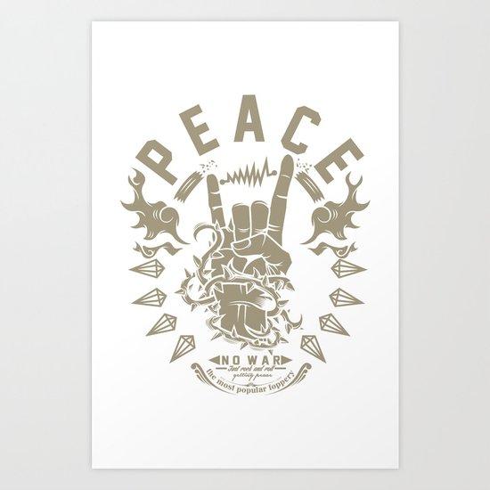 Rock & peace Art Print