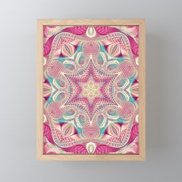 Flower Of Life Mandala (Sweet Embrace) Framed Mini Art Print