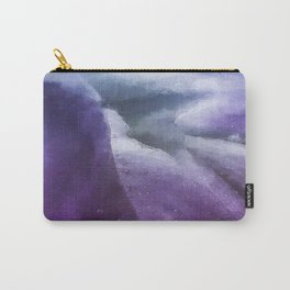 Inside the Purple Flower Universe Carry-All Pouch