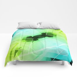 Revive - Geometric Abstract Art Comforters