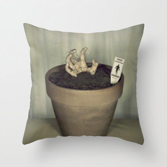 Zombie Plant Throw Pillow