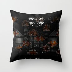Distracting a Ghost: 1st Rendition  Throw Pillow
