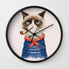 Sailor Cat V Wall Clock
