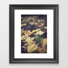 fall duet Framed Art Print